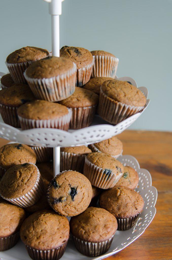Blueberry Banana Quinoa Flour Muffins Recipe Bob S Red Mill