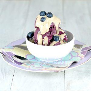 Roasted Blueberry Ice Cream