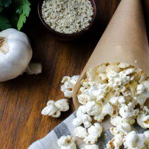 Herbed Garlic Hemp Popcorn