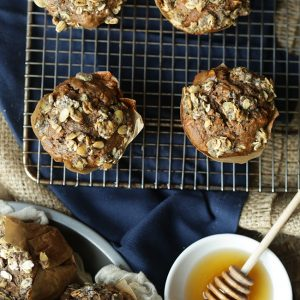 Multi-Seed Banana Muffins with Maple and Honey