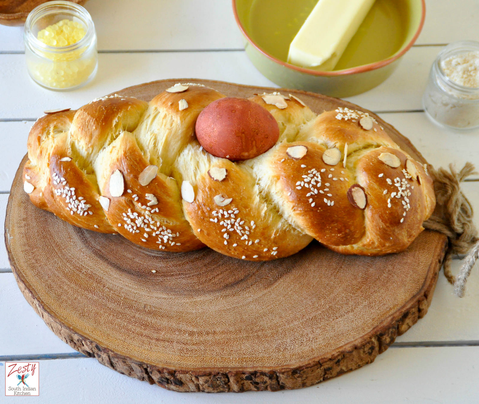 Tsoureki / Lampropsomo (Greek Easter Bread) | Bob's Red ...