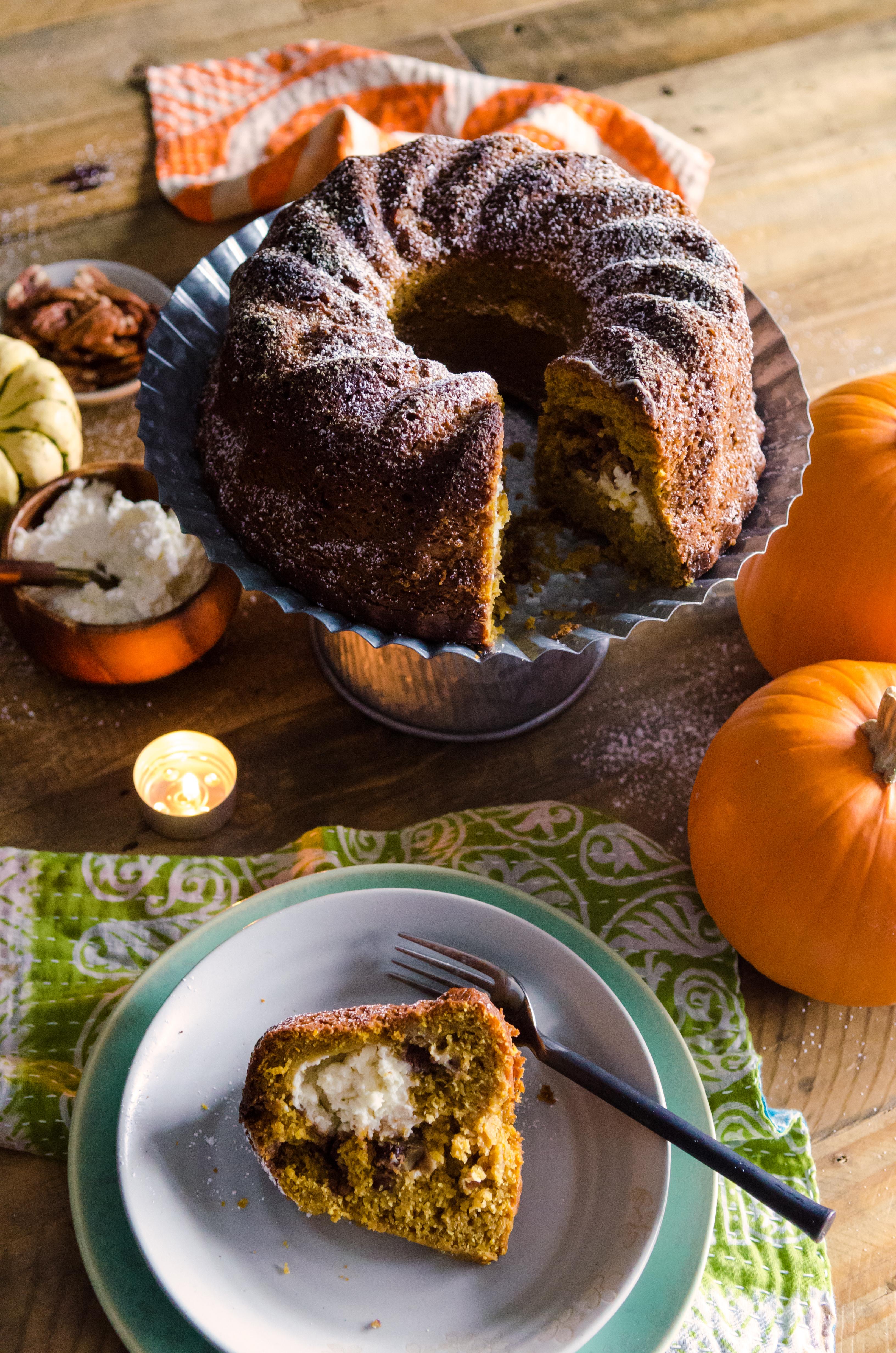 recipe: pumpkin cream cheese coffee cake [20]