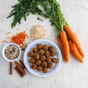 Spiced Carrot Cake Muesli Energy Poppers