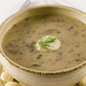 Creamy Mushroom and Grains Soup