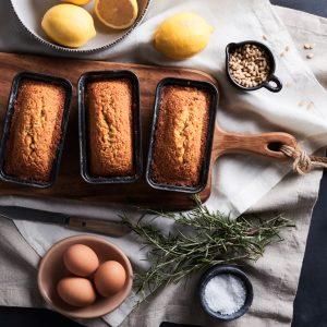 Mini Lemon Rosemary Cornmeal Loaves