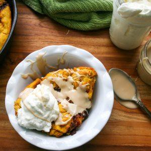 Gluten Free Pumpkin Cinnamon Bread with Maple Glaze