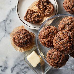 Black Sesame Morning Glory Muffins