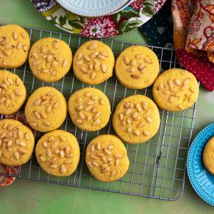 Saffron Pinon Corn Cookies