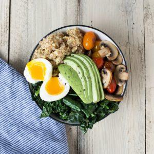 Breakfast Bulgur and Millet Grain Bowl