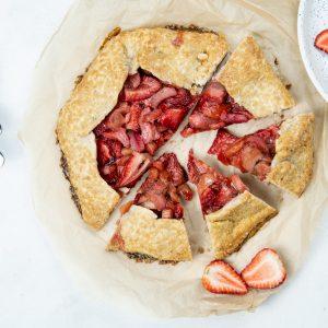 Gluten Free Strawberry Rhubarb Galette