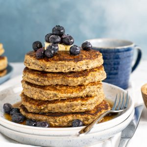 Hearty Oatmeal Pancakes with Flax and Chia Seeds