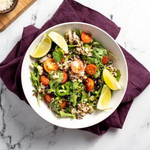 Quinoa Salad with Jalapeño Honey Dressing