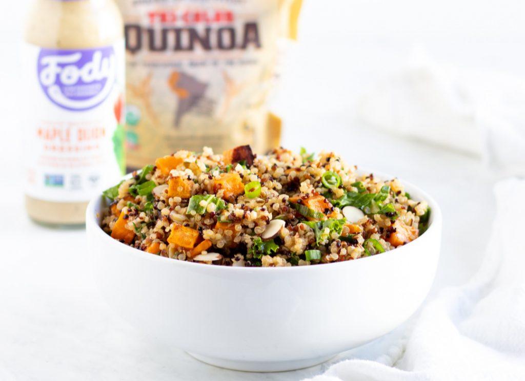 Kale Quinoa Salad With Maple Dijon Dressing Recipe Bob S Red Mill