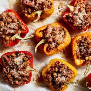 Mediterranean Farro Stuffed Peppers