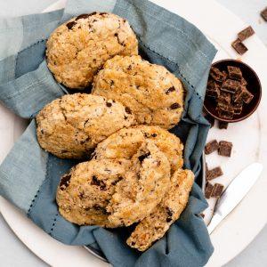 Gluten Free Chocolate Chunk Scones