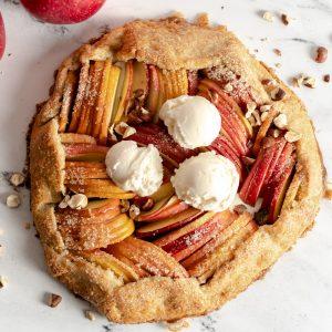 Gluten Free Apple Hazelnut Galette