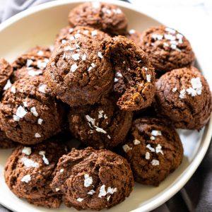 4 Ingredient Gluten Free Brownie Mix Cookies