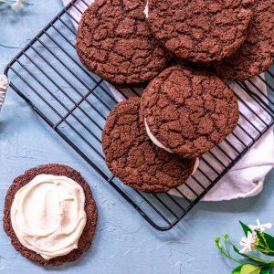 Jumbo Chocolate Sandwich Cookies (Gluten Free)