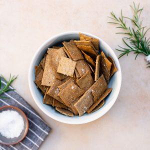 Sea Salt and Rosemary Sourdough Crackers