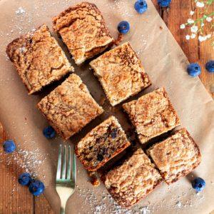 Grain Free Blueberry Coffee Cake