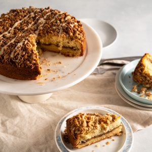 Sour Cream Coffee Cake with Maple Oat Streusel