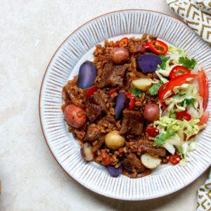 Beef & Potato Farro Pilau