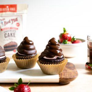 Chocolate Strawberry Hi-Hat Cupcakes