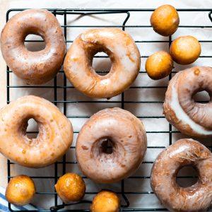 Fried Vegan Doughnuts