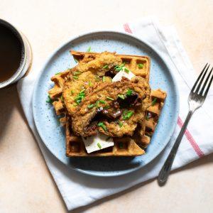 Fried Mushrooms & Waffles